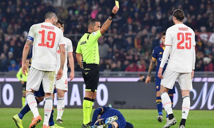 Roma-Juve, rivivi la MOVIOLA: rigore per i giallorossi col Var. Gialli pesanti per Kolarov e Florenzi