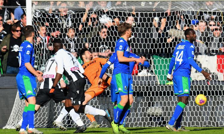 Udinese, gol di Okaka o autogol di Consigli? La decisione della Lega