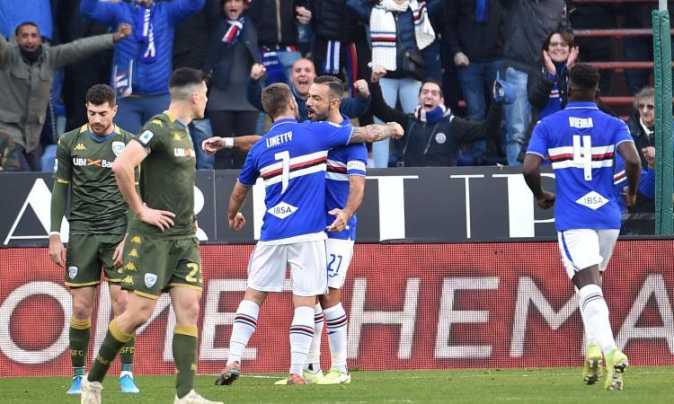 Sampdoria-Brescia 5-1: il tabellino