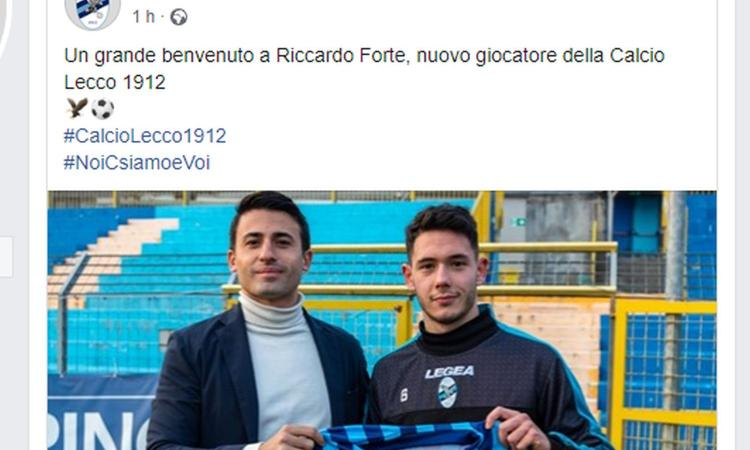 Lecco, UFFICIALE: arriva un attaccante scuola Milan