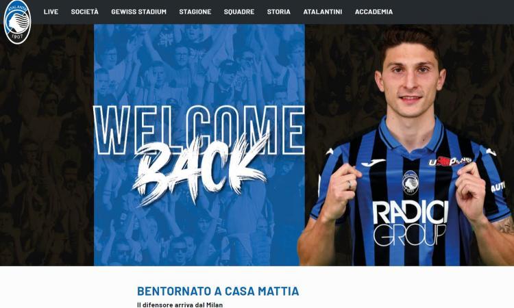 Atalanta, UFFICIALE: dal Milan arriva Caldara. Il tweet: 'Bentornato a casa'