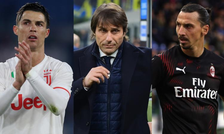 Intermania: alla Juve comanda CR7 e al Milan decide Ibra? Qui regna Conte