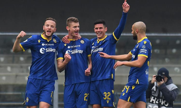 Il Verona non è l'Inter: abbattuto il 5-3-2 di Liverani. E Juric è nella storia del club