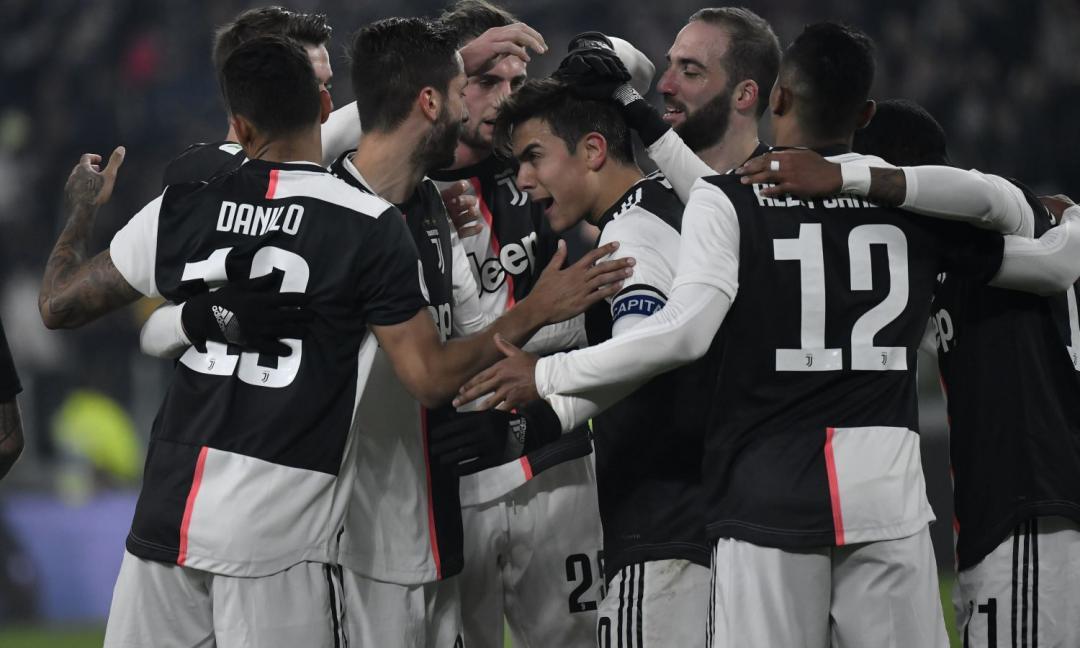 L'undici Juve contro il Milan in Coppa Italia