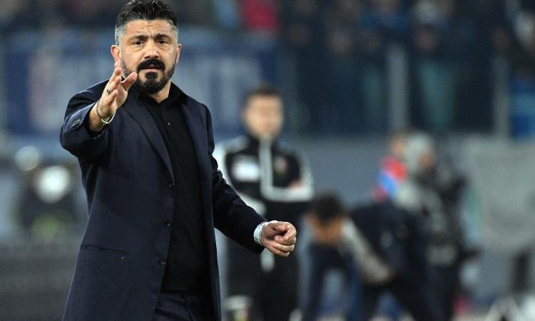Napoli, Gattuso: 'Allan cammina in allenamento, domani sta a casa!'. Poi replica a Conte: 'Ma quale catenaccio...'
