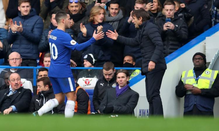 Hazard critica Conte e Sarri: 'E' poco piacevole essere allenato dagli italiani'