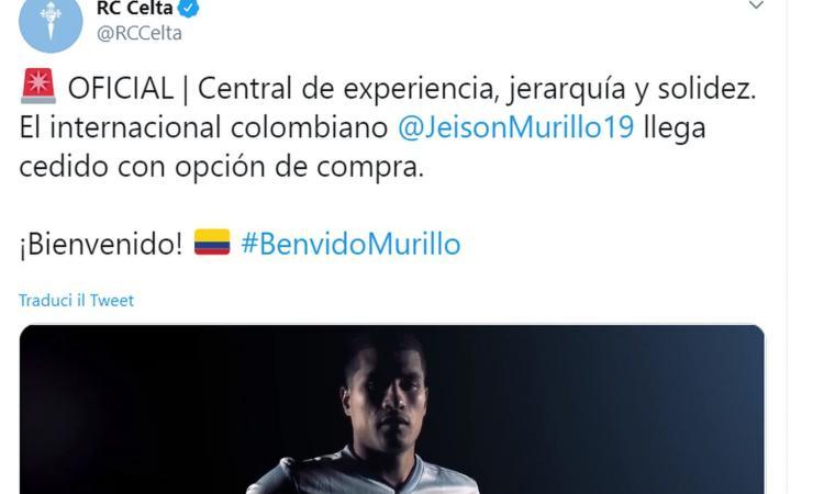 Celta Vigo, UFFICIALE: dalla Samp arriva Murillo