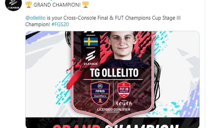 FUT Champions Cup III: due italiani fuori al primo turno, trionfa lo svedese Olle 'Ollelito' Arbin