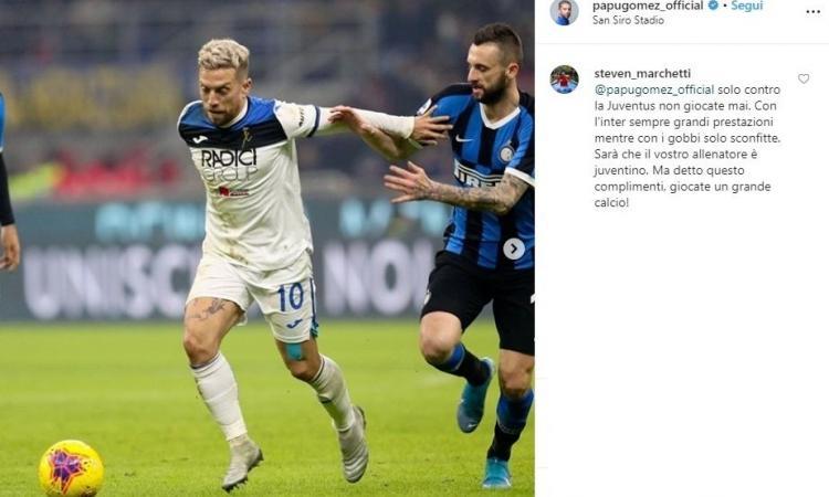 Un tifoso accusa Gomez: 'Con l'Inter grandi prestazioni, coi gobbi solo sconfitte'. Arriva la risposta del Papu