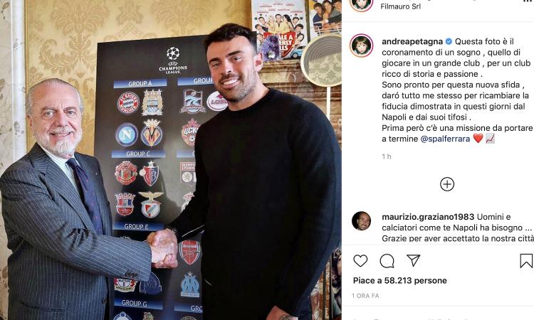 Petagna, il Napoli e una scelta fatta con De Laurentiis: l'Arsenal si informa