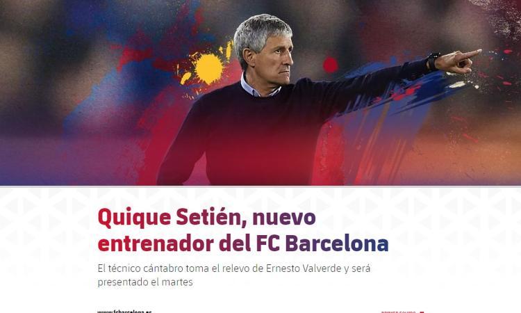 Barcellona già al lavoro con Setien VIDEO