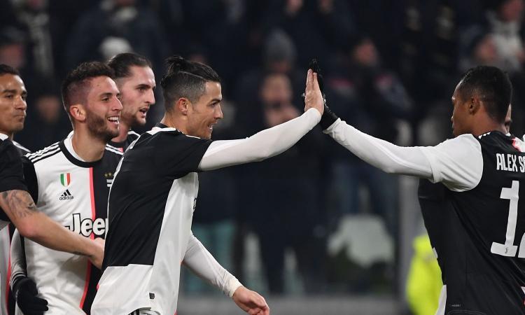Una super Juve vola in semifinale di Coppa Italia: Ronaldo, Bentancur e Bonucci travolgono la Roma