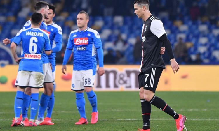 Juve ko a Napoli: Ronaldo furioso nello spogliatoio