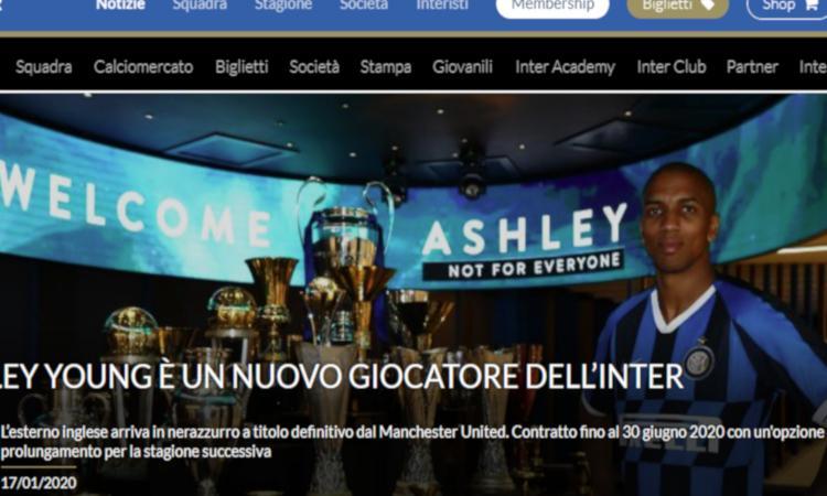 Inter, UFFICIALE: Young dal Manchester United. I dettagli