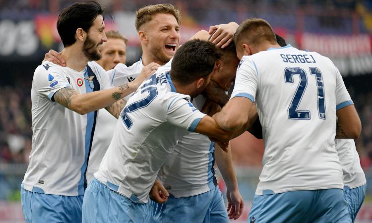 La Lazio vince anche in casa del Genoa: Immobile e compagni a -1 dalla Juve e +5 sull'Inter