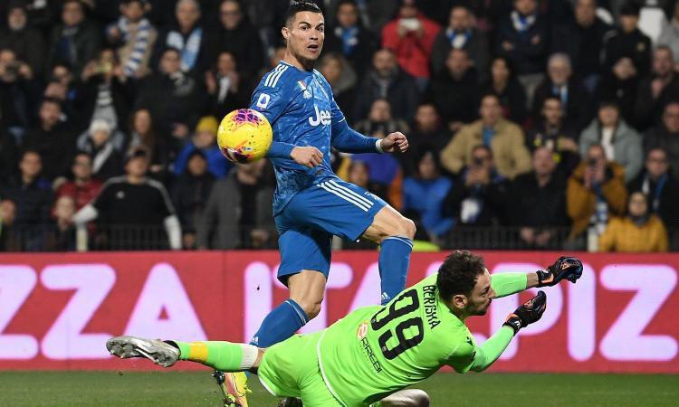 Juve, nuovo record per Ronaldo: eguagliati Quagliarella e Batistuta VIDEO