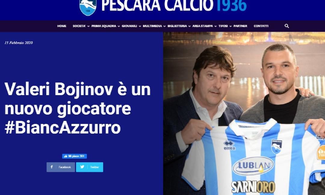 Pescara: Bojinov, colpo da play off?