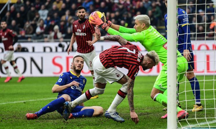 Milan fuori dall'Europa a vantaggio del Verona se la Serie A non riprende