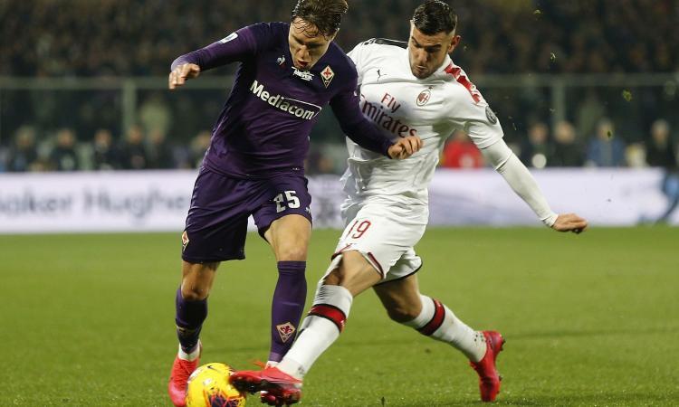 Milan, Theo Hernandez: protesta social per il rigore alla Fiorentina FOTO