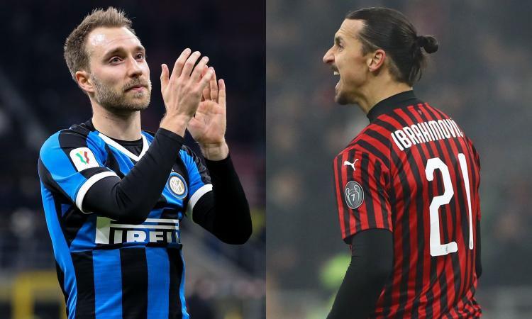 Inter-Milan è Eriksen contro Ibra, solisti agli opposti: futuro e progetto sfidano passato ed emergenza