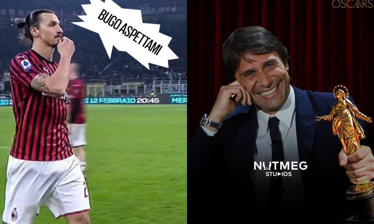 L'Inter ribalta il Milan e cancella anche gli sfottò social. Da 'Ibra-Bugo' a 'Conte da Oscar', MEME e FOTO. E la Juve...