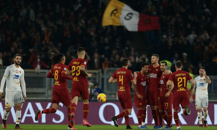 Si rialza la Roma: poker al Lecce con super Mkhitaryan! GUARDA GLI HIGHLIGHTS