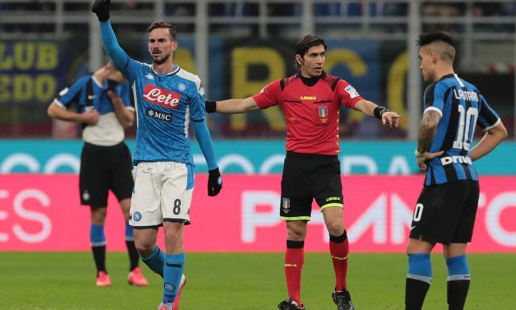 Coppa Italia, a Gattuso il primo round: Inter-Napoli 0-1, decide una magia di Fabian Ruiz