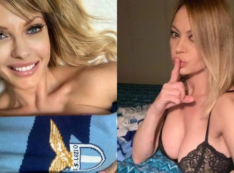 Non solo Anna Falchi, anche l'ex-Miss Italia Manila Nazzaro sogna lo scudetto della Lazio FOTO