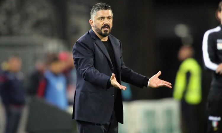 Brescia-Napoli, parolacce e calci: la furia di Gattuso all'intervallo!