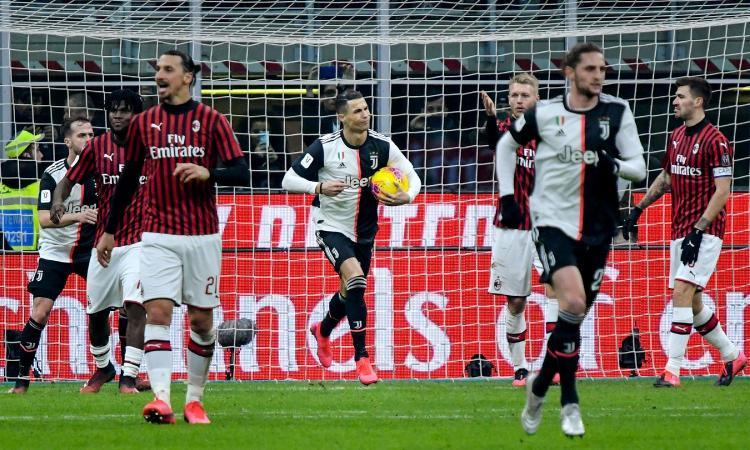Il Milan sovrasta una Juve in crisi. Sarri salvato dal rigore regalato da Valeri, ma può perdere con chiunque