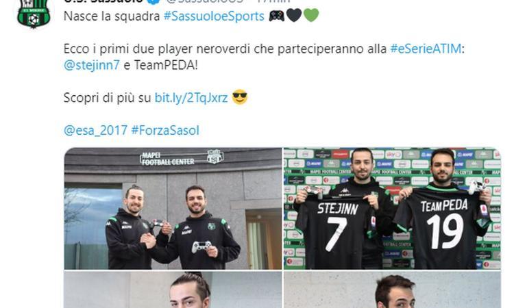 Il Sassuolo annuncia il team eSports: ecco i primi due player neroverdi