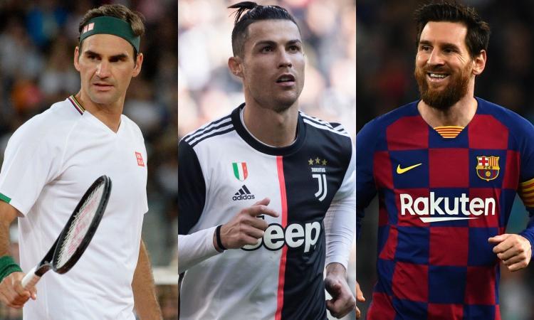 Gli sportivi più pagati al mondo: guida Federer a sorpresa, Ronaldo meglio di Messi. Il calcio al 3° posto totale