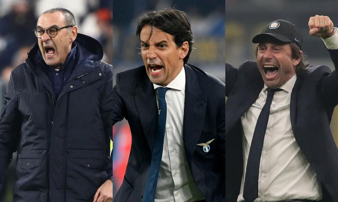 Sarri, Inzaghi, Conte: riparte la lotta al vertice