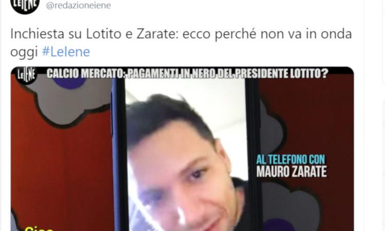 Le Iene, stop al servizio su Zarate: 'Diritto di replica per Lotito'. La Procura apre un'inchiesta