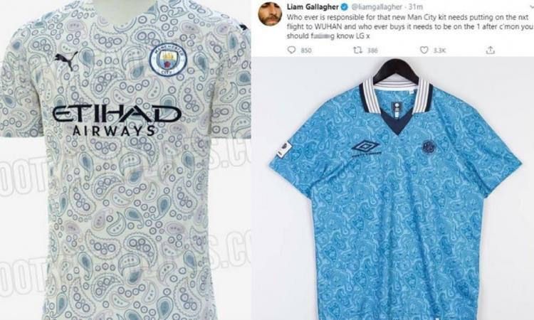 Nuova maglia City, Liam Gallagher sbrocca: 'Il responsabile e chi la compra sul prossimo volo per Wuhan'. Poi...