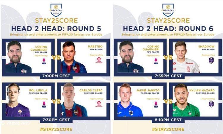 'Stay2Score' su Fifa 20, 5° e 6° round: Serie A in campo contro Spagna e Belgio