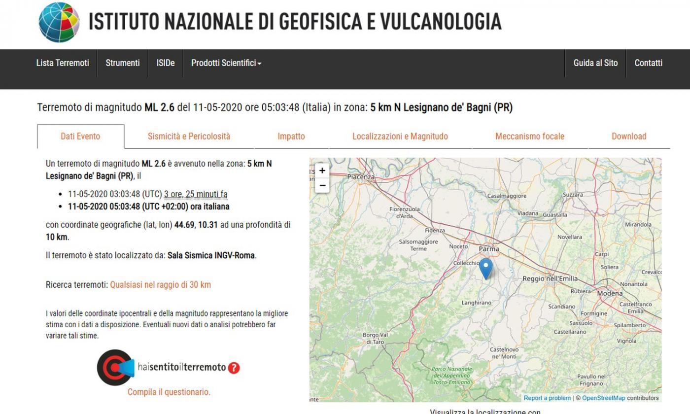 Terremoto a Roma: magnitudo 3.3, 11 km di profondità