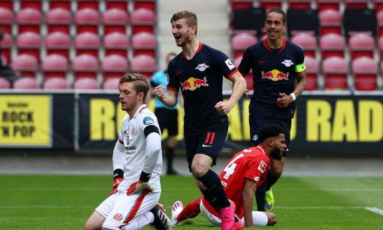 Werner, altro show: sfida lanciata a Lewandowski. E l'Inter è al lavoro: ha una carta a suo favore