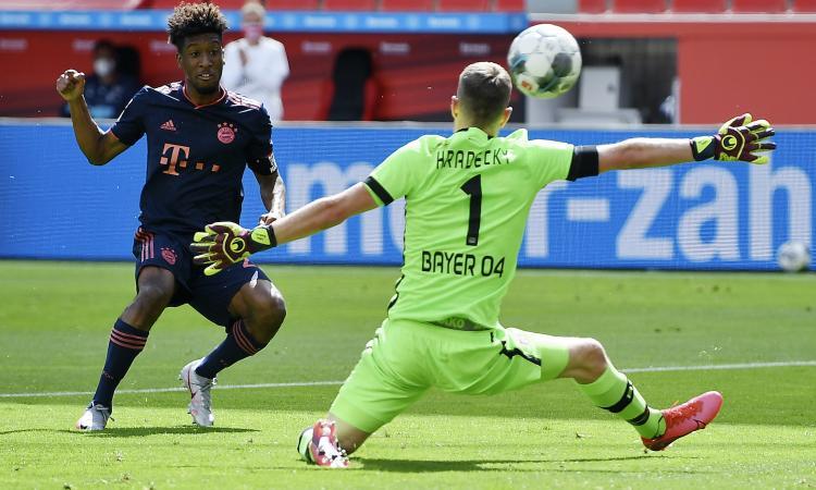 Bayern da urlo: 4-2 al Leverkusen e titolo vicino. Strepitoso l'ex juventino Coman