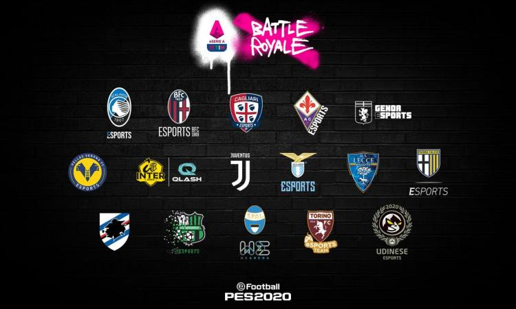 Esports e Serie A, ecco la 'Battle Royale' su PES: in campo anche Inter e Juve