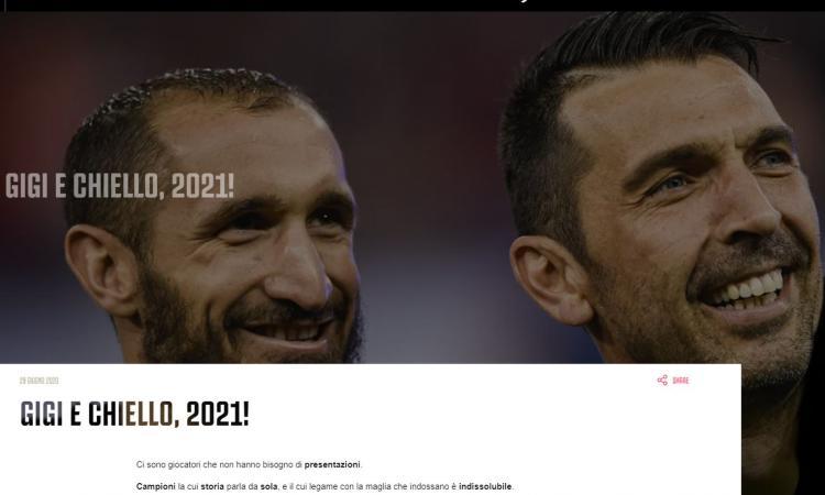 Juve, UFFICIALE: Chiellini e Buffon fino al 2021