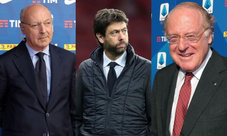 Ore 14.30, i 'nemici' di nuovo faccia a faccia: Milan, Inter e Juve accerchiate in Lega. Roma, Toro e Genoa pensano a una causa contro Agnelli