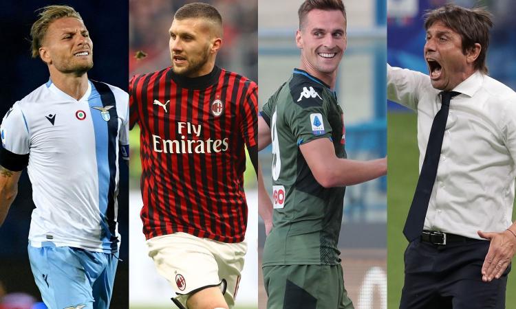 Serie A, la 28ª giornata: la Lazio deve rispondere alla Juve. Domani Milan-Roma, poi Napoli e Inter: Conte cerca riscatto
