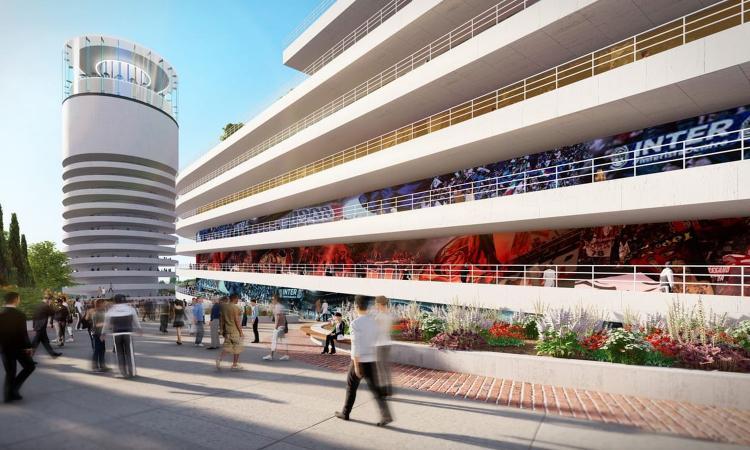 Milan e Inter, le FOTO del nuovo distretto di San Siro: verde, sport, zip line e una parte di tribune attuali