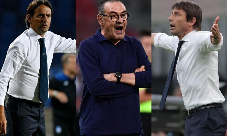 Lazio e Inter senza riserve, Sarri può rinunciare anche a 4 titolari: la Juve è sempre più favorita per lo scudetto