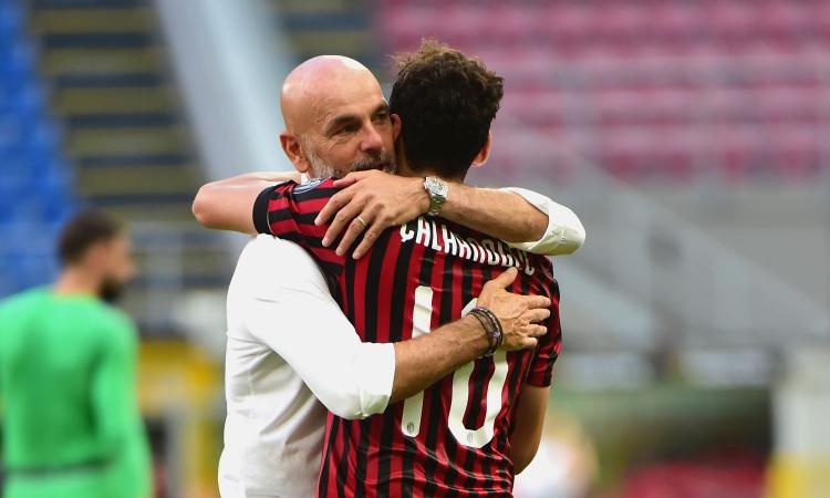 Pioli: 'Calhanoglu è un leader, vedo Donnarumma ancora nel Milan. Su Ibra...'