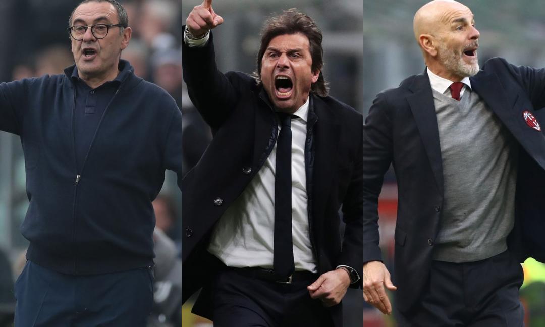 """Sarri, Conte, Inzaghi e Pioli: stop ai tecnici """"usa e getta"""""""