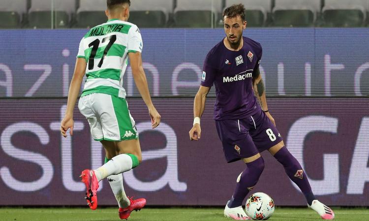 Fiorentina, sospetta frattura nasale per Castrovilli