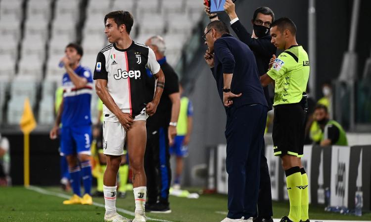 Incredibile Juve: Dybala e De Ligt fuori per infortunio, Sarri trema in vista della Champions
