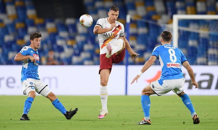 Roma, le pagelle di CM: Dzeko ispira, Mkhitaryan colpisce. Male Kluivert e Zappacosta